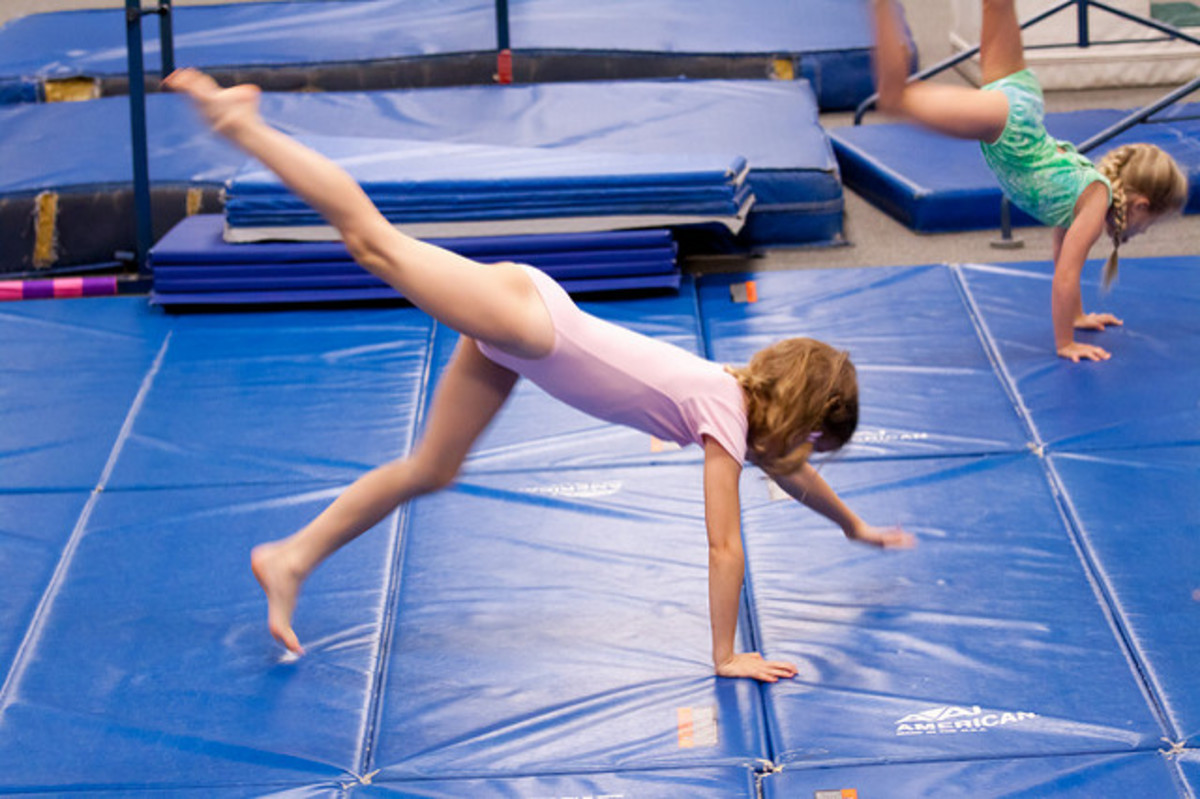 Gymnastics is a great sport for kids to be involved in, but they should never do backbends before age 7.