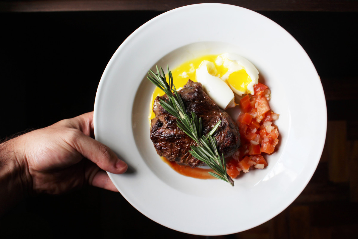 Steak and eggs are packed with protein.