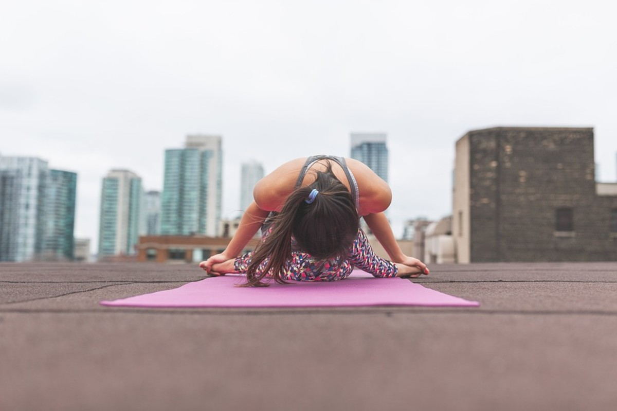 It doesn't matter where you do yoga as long as the space encourages you to return, such as an open and peaceful spot in a busy world
