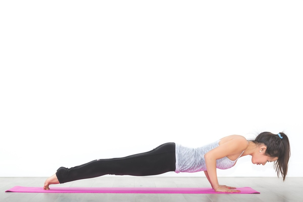 Plank Halfway Down (also called Four-Limbed Staff pose)