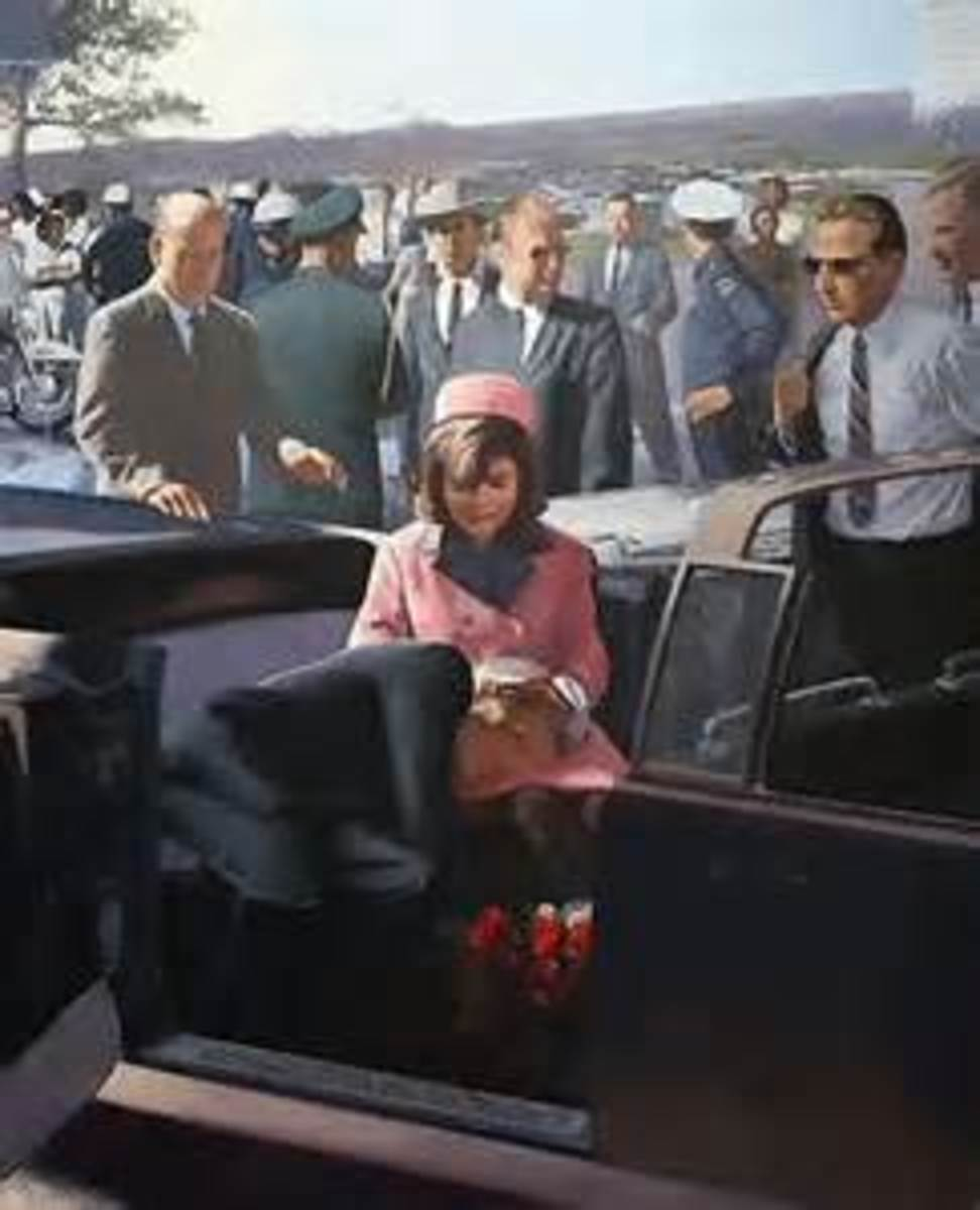 Jackie Kennedy Getting Out Of The Limo At Parkland Hospital.