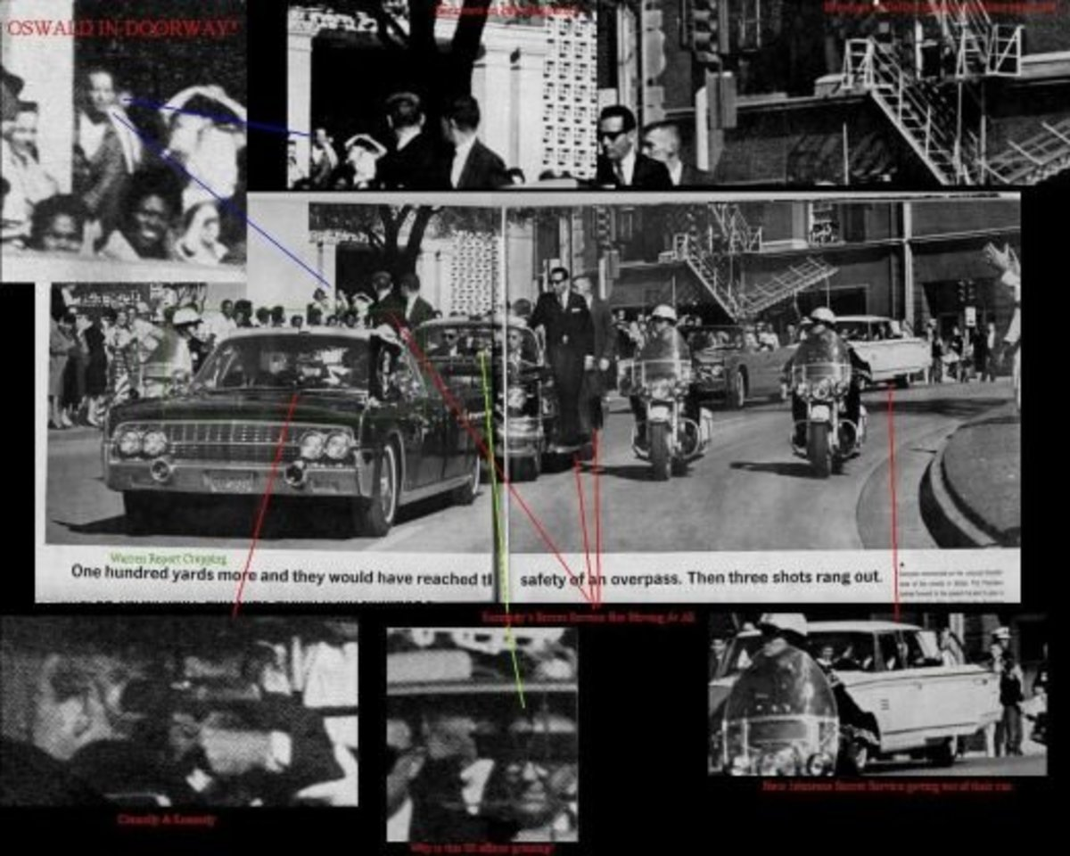 Again in this photo Oswald Can Be Seen Standing In The Doorway Outside When The Shots Were Fired At The President.