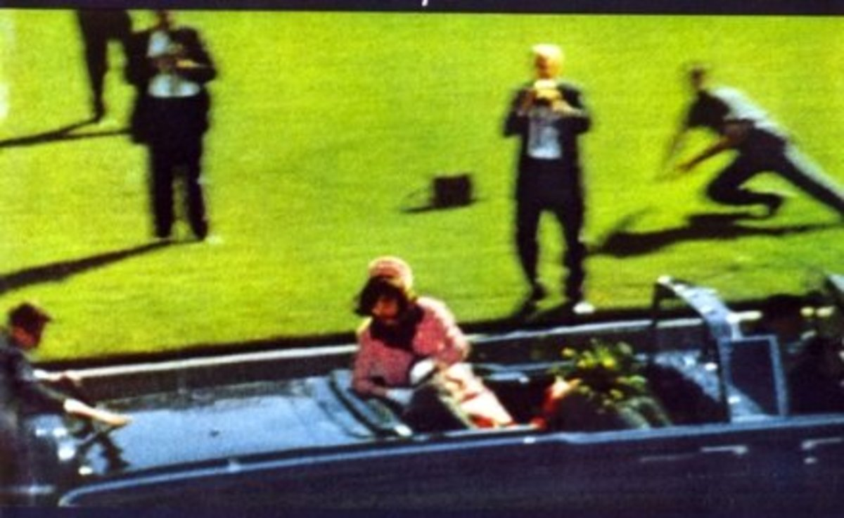 In This Photo You Can See Jackie Kennedy. President Kennedy Has Already Been Shot In This Photo.