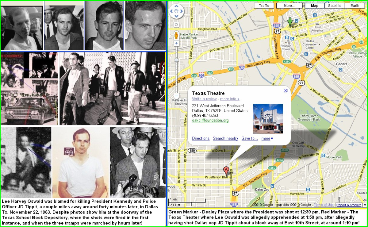 Photos of Lee Harvey Oswald And another photo of Oswald in the doorway of the building.