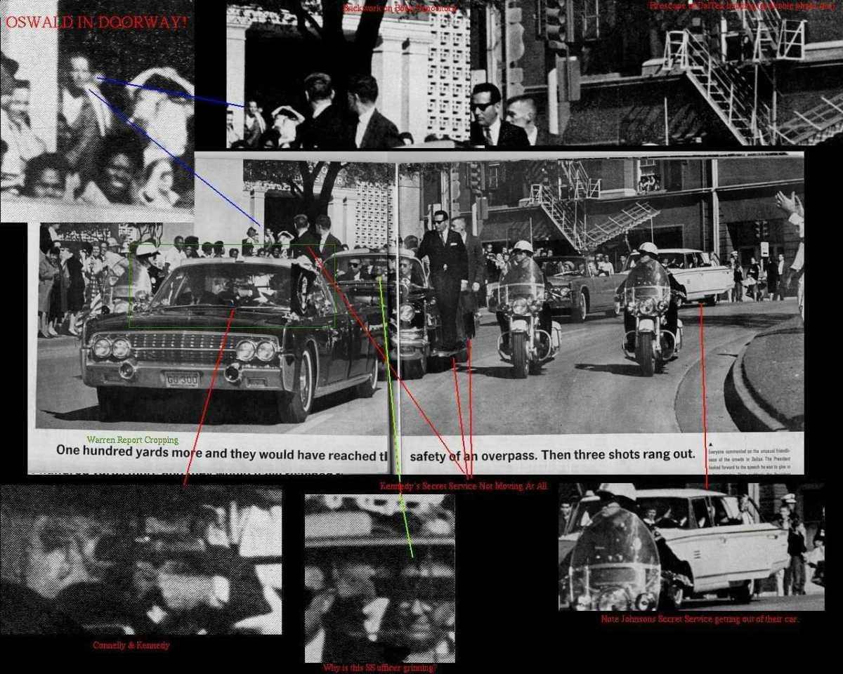 Recently Released Photo Showing Oswald in Doorway During the JFK Presidential Motorcade When He Was Supposed to Be Shooting the President