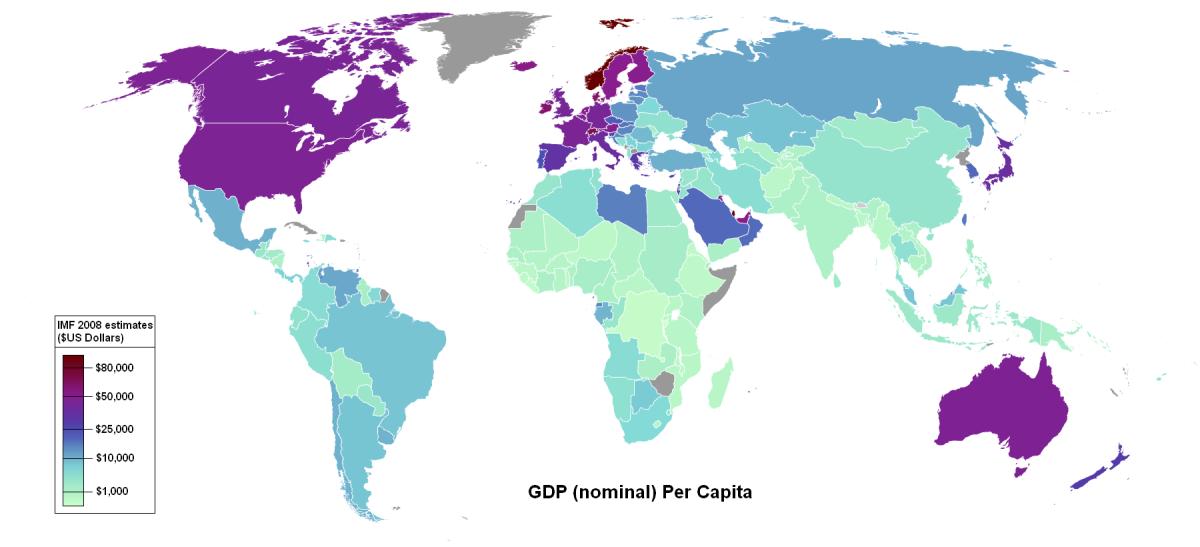 WORLDWIDE GROSS DOMESTIC PRODUCT 2008 CORRELATES TO CAPITALISM