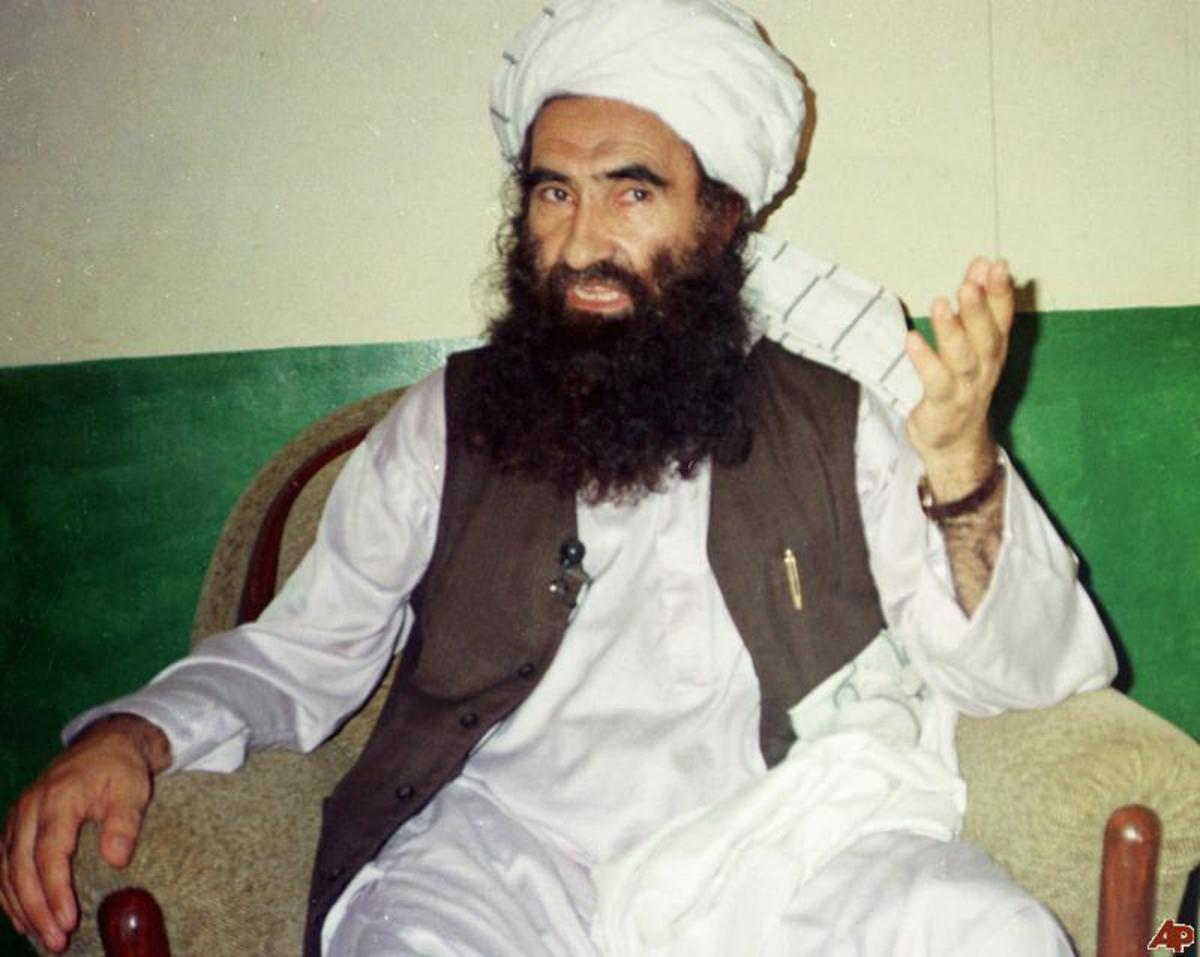 Jalaluddin Haqqani: His son Sirajuddin is now senior leader of the terrorist network he founded. Reports from Pakistan say his other son Muhammad has been killed by a US missile attack. Photograph: Mohammed Riaz/AP