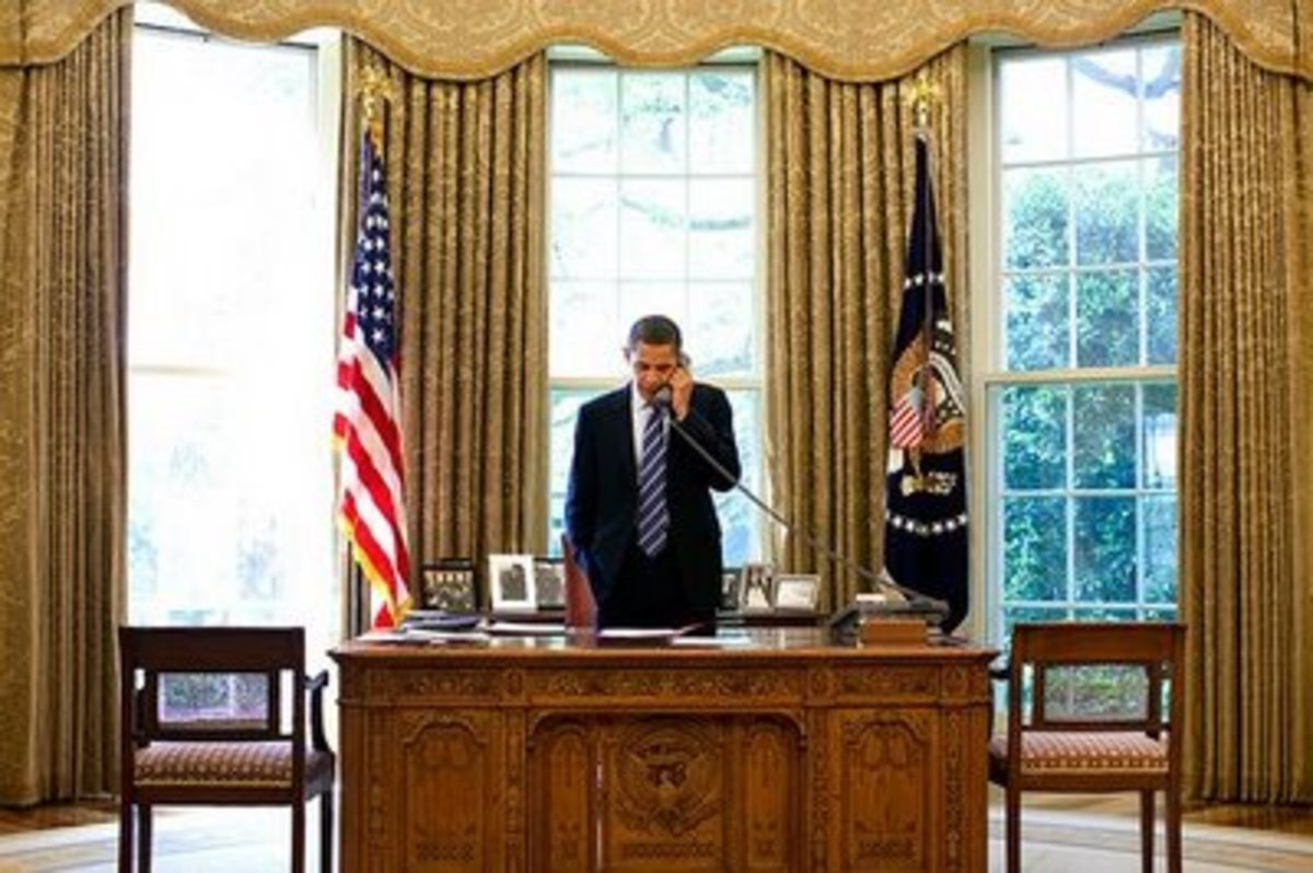 Among the changes in decor to the Obama Oval Office, one of them was not the Resolute Desk, which has been used off-and-on by presidents since John Kennedy