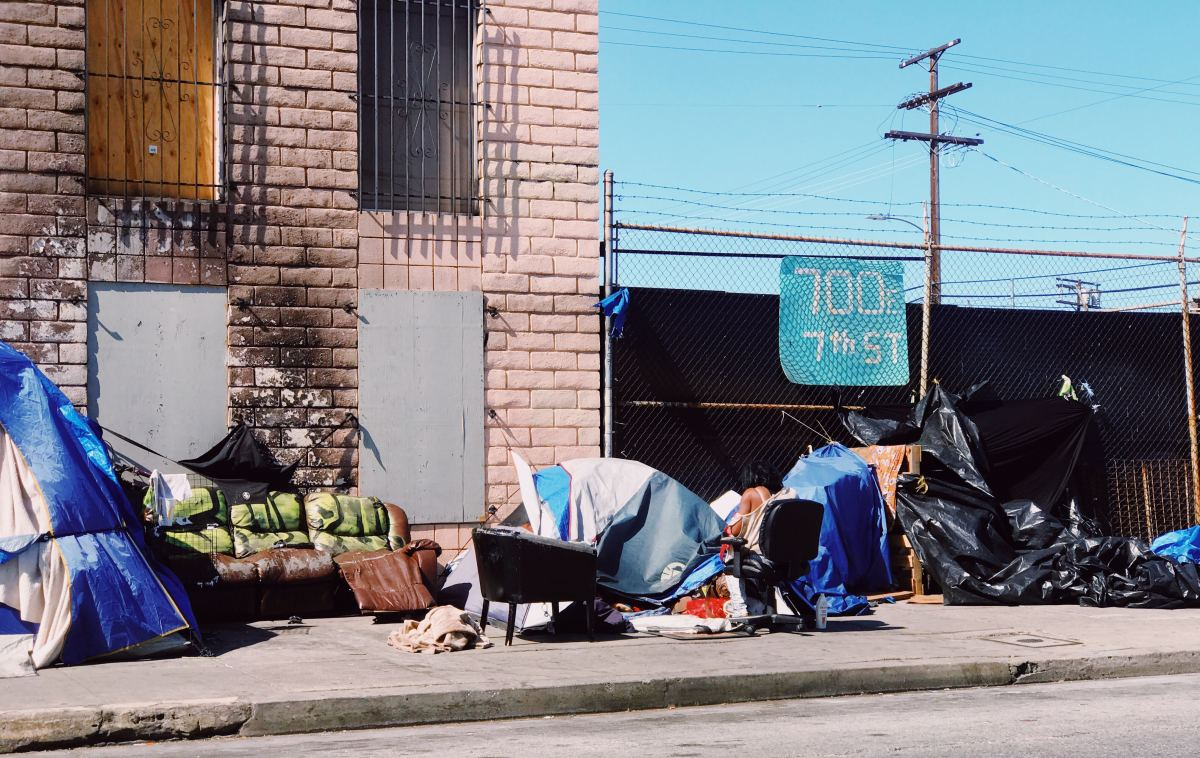Homeless people can't get a place to live until they get a job... but can't get a job until they get a place to live.