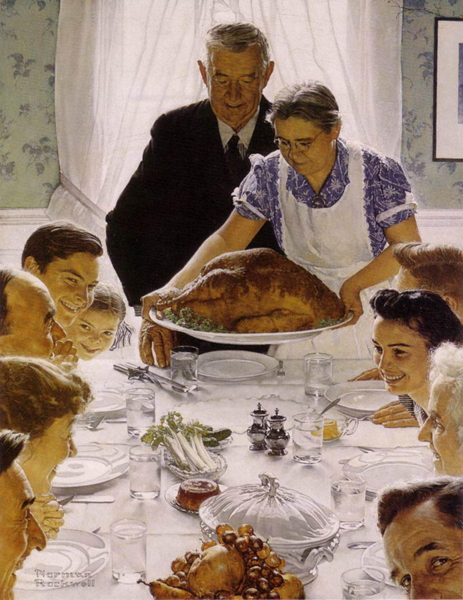 """NORMAN ROCKWELL PAINTING """"THANKSGIVING"""""""