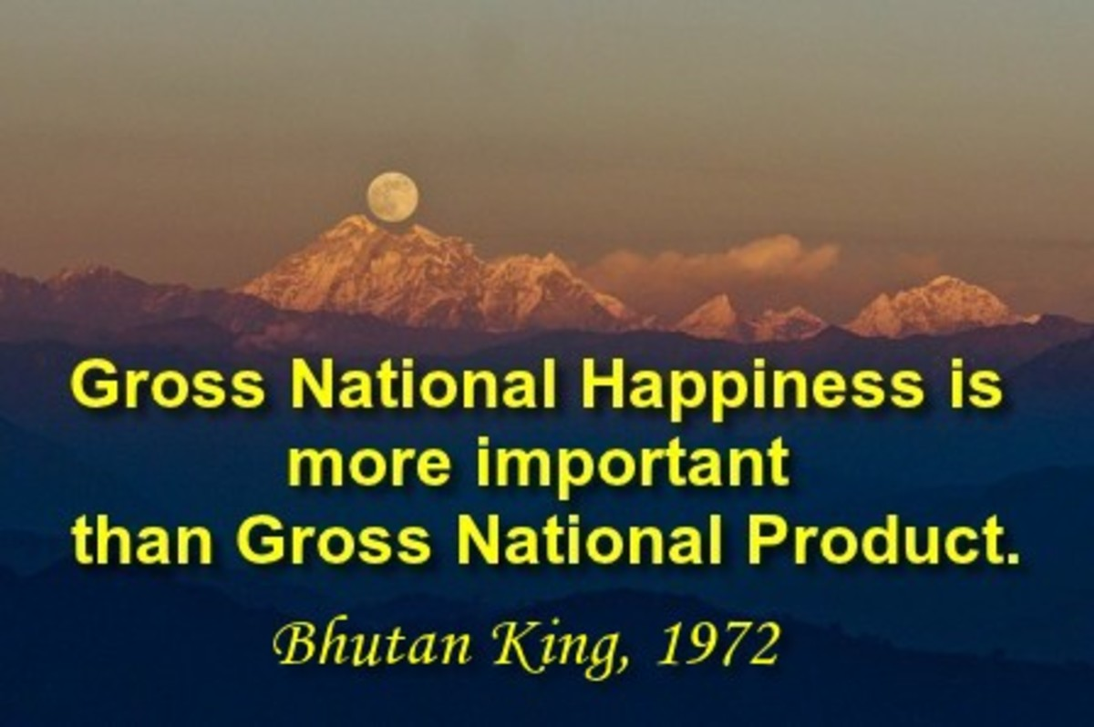 Tiny Bhutan does not measure progress in GDP.
