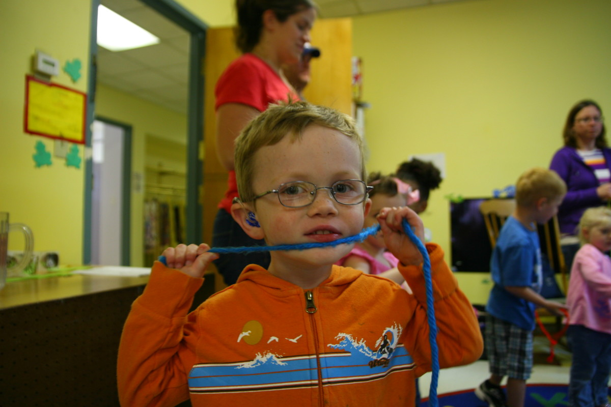 Services may be provided in various locations, according to the child's needs. Our son received push-in services in his general education preschool classroom to help with socialization, self advocacy, and to learn how to use certain equipment.
