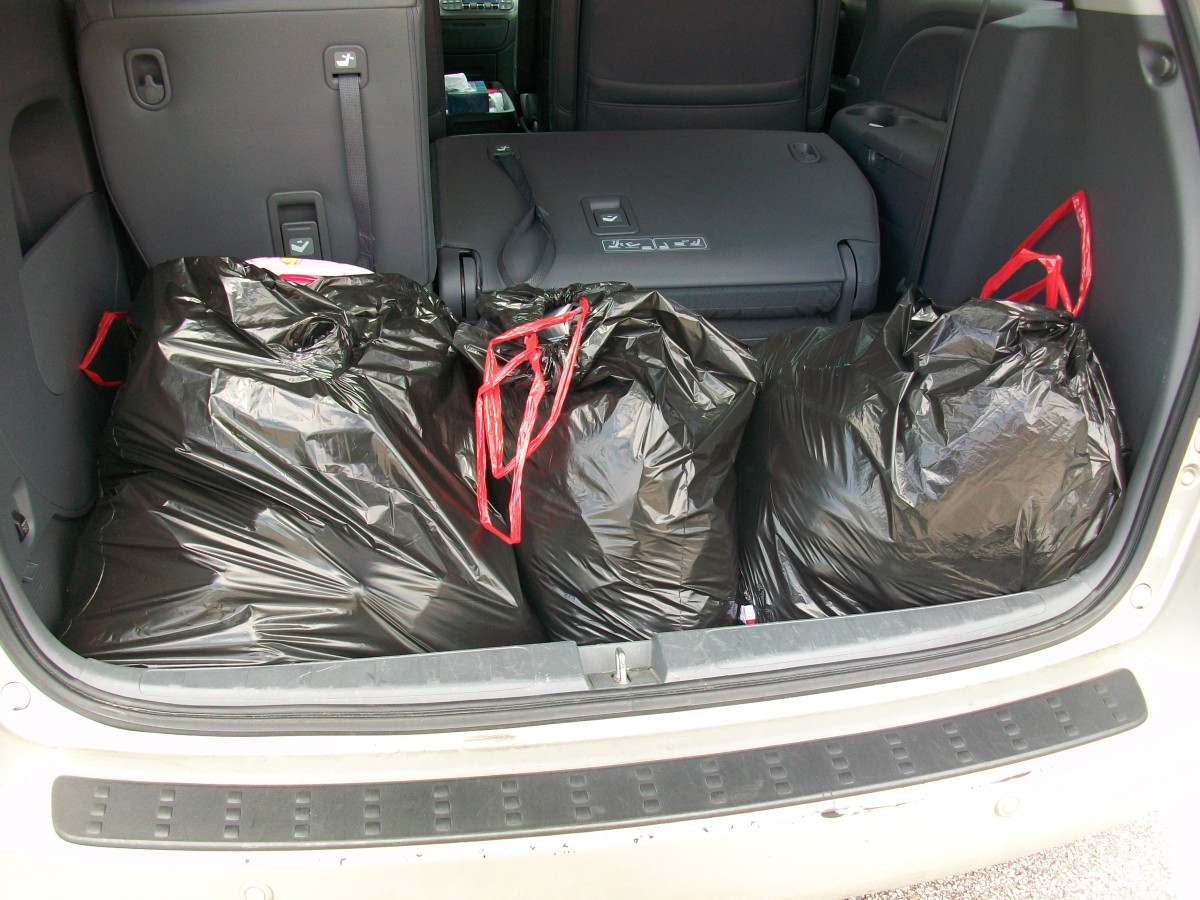 On a recent trip to Goodwill, I packed my trunk with four big garbage bags of clothes and a box of books and toys.