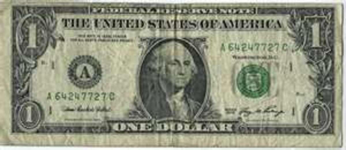 Fake dollar bill