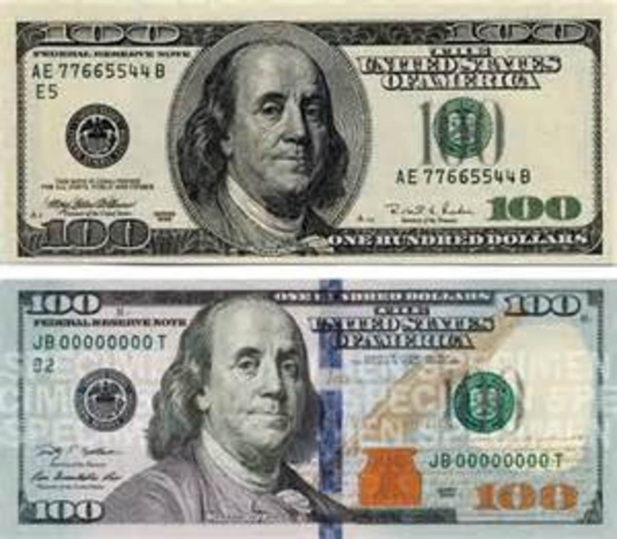 The old C-note and the new one
