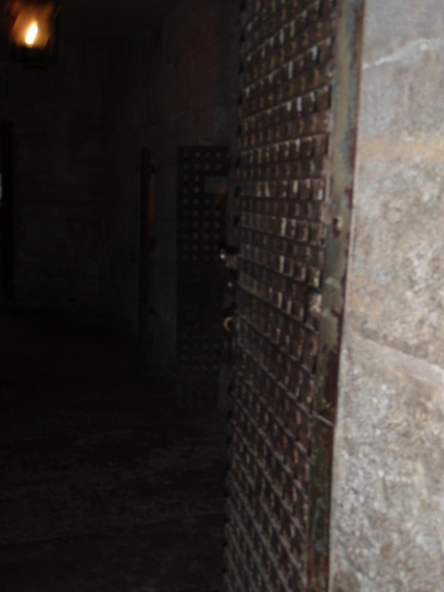 Old massive jailhouse doors