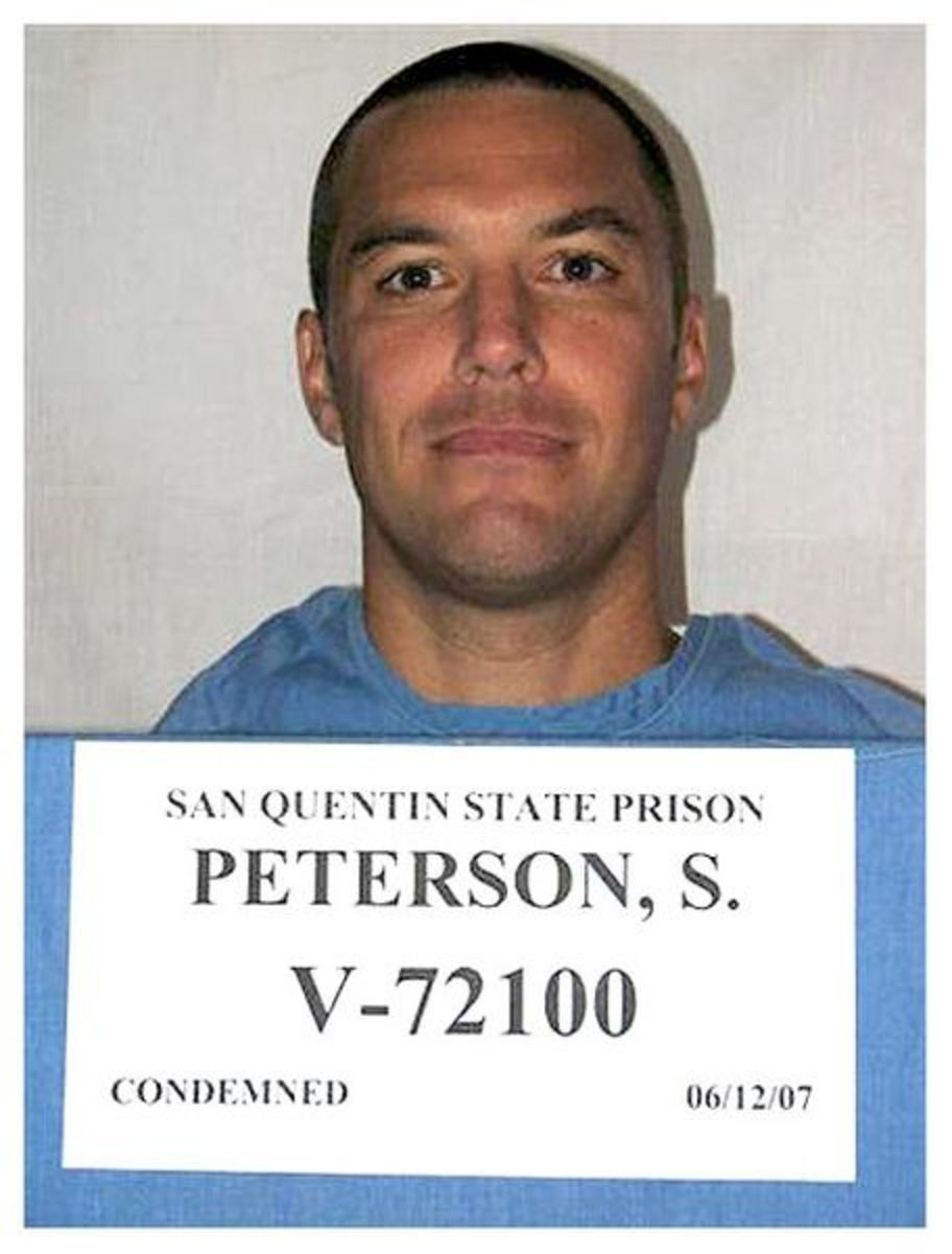 Scott Peterson was convicted of Killing Laci Peterson and Connor Peterson.  Scott is now on death row at San Quentin appealing his conviction.