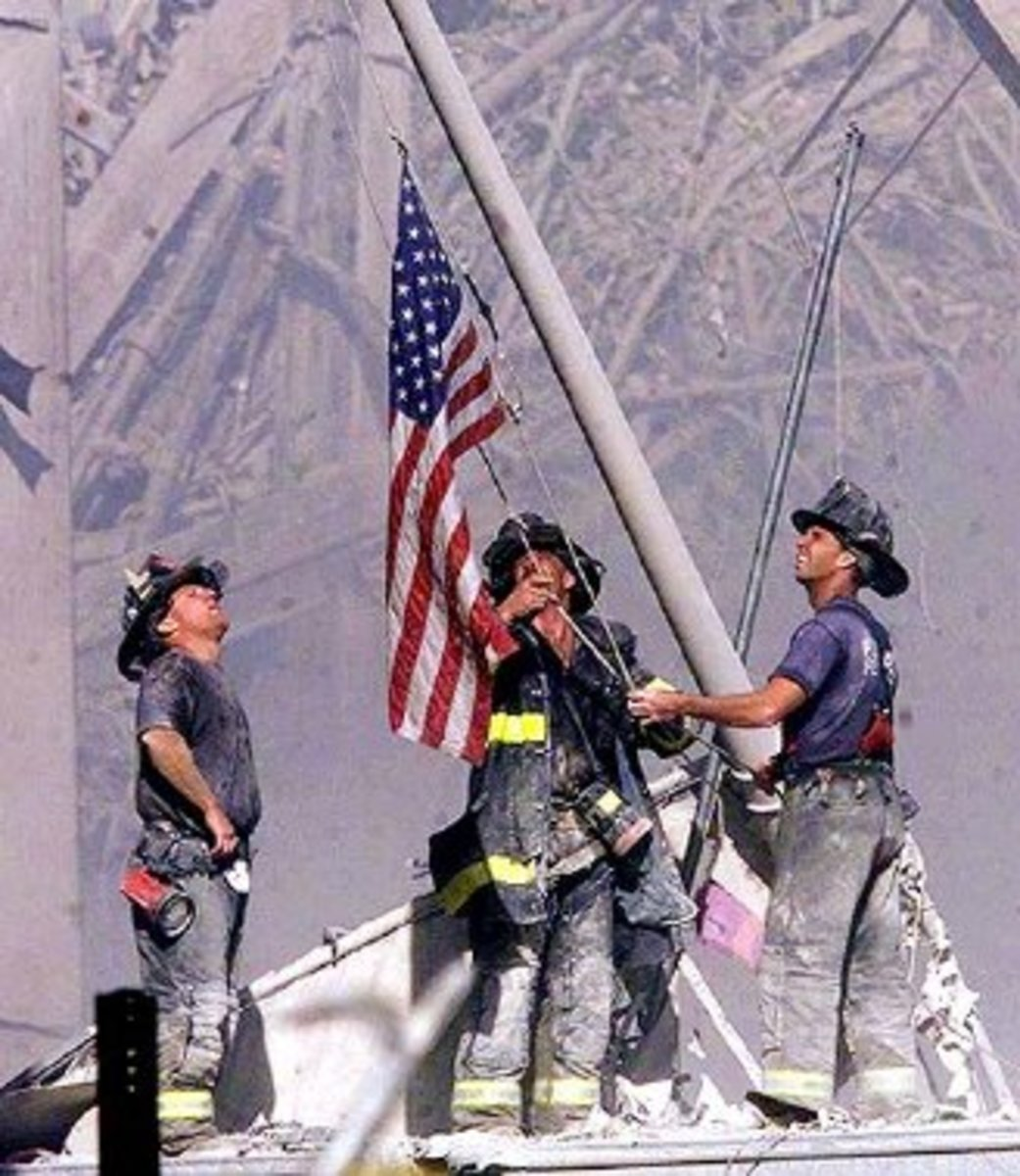 NYC Firefighters Raising the Flag 911
