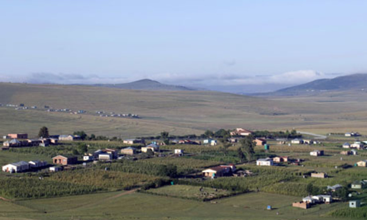 The village of Qunu, Eastern Cape, where Nelson Mandela grew up and where his mother founded a Methodist church in the 1960s.