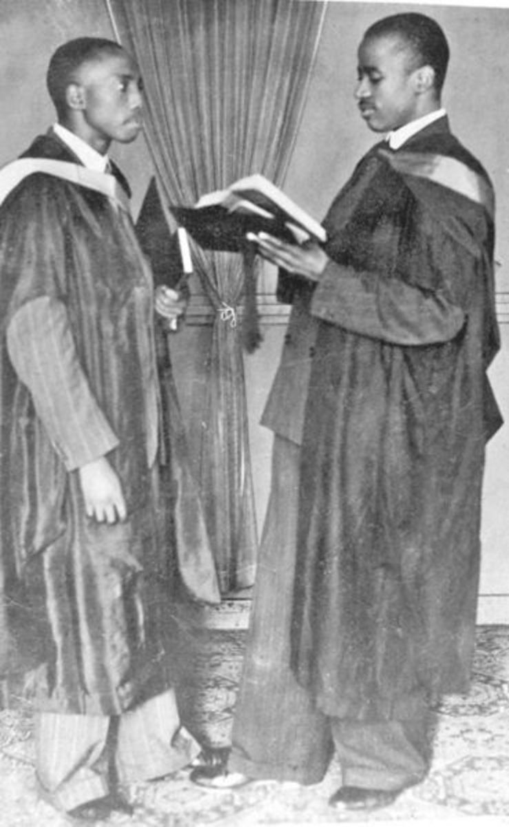 A.P. Mda's Graduation(One On Left)