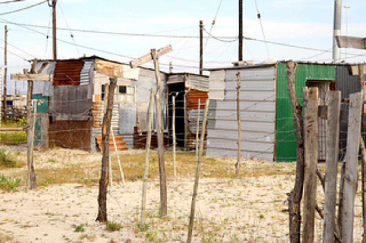 ...While the rest of the armies of the poor live in abject poverty and ramshackle housing