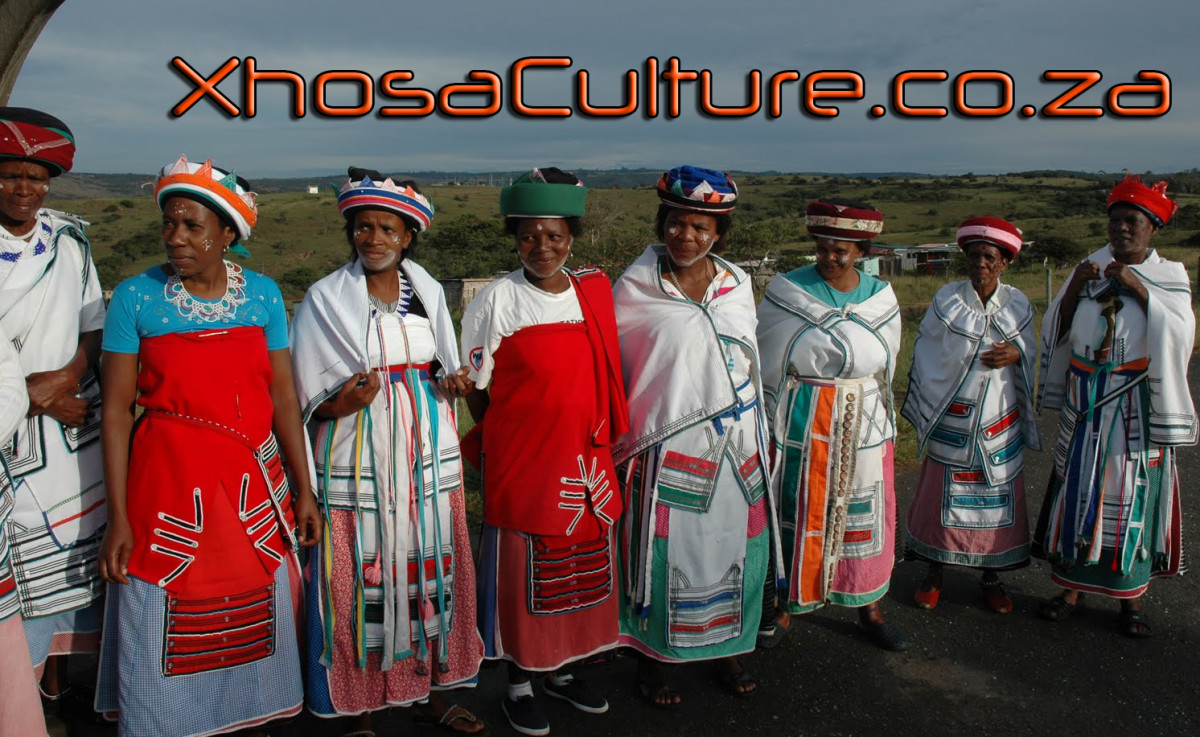 Xhosa Women wearing their traditional cultural clothes signifying their age