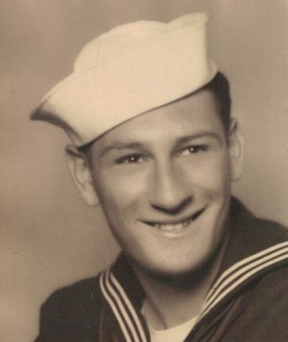 My dad, a U.S. Navy sailor