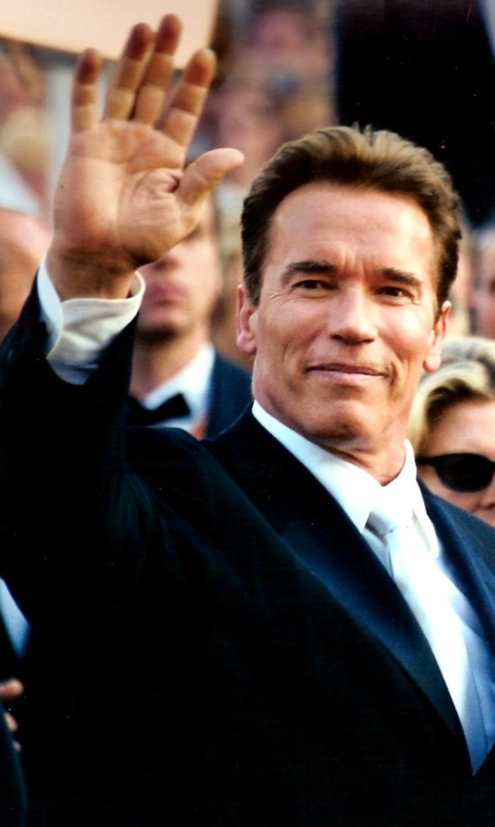 Former Governor of California, Arnold Schwarzenegger, here pictured at the 2003 Cannes film festival, has been an advocate for wind energy for many years.  During his time in office he made efforts to reduce greenhouse gases created in California.
