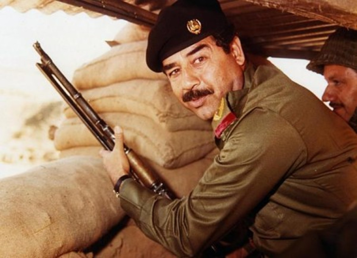 A skilled practitioner of the personality cult, Saddam never missed a photo opportunity.