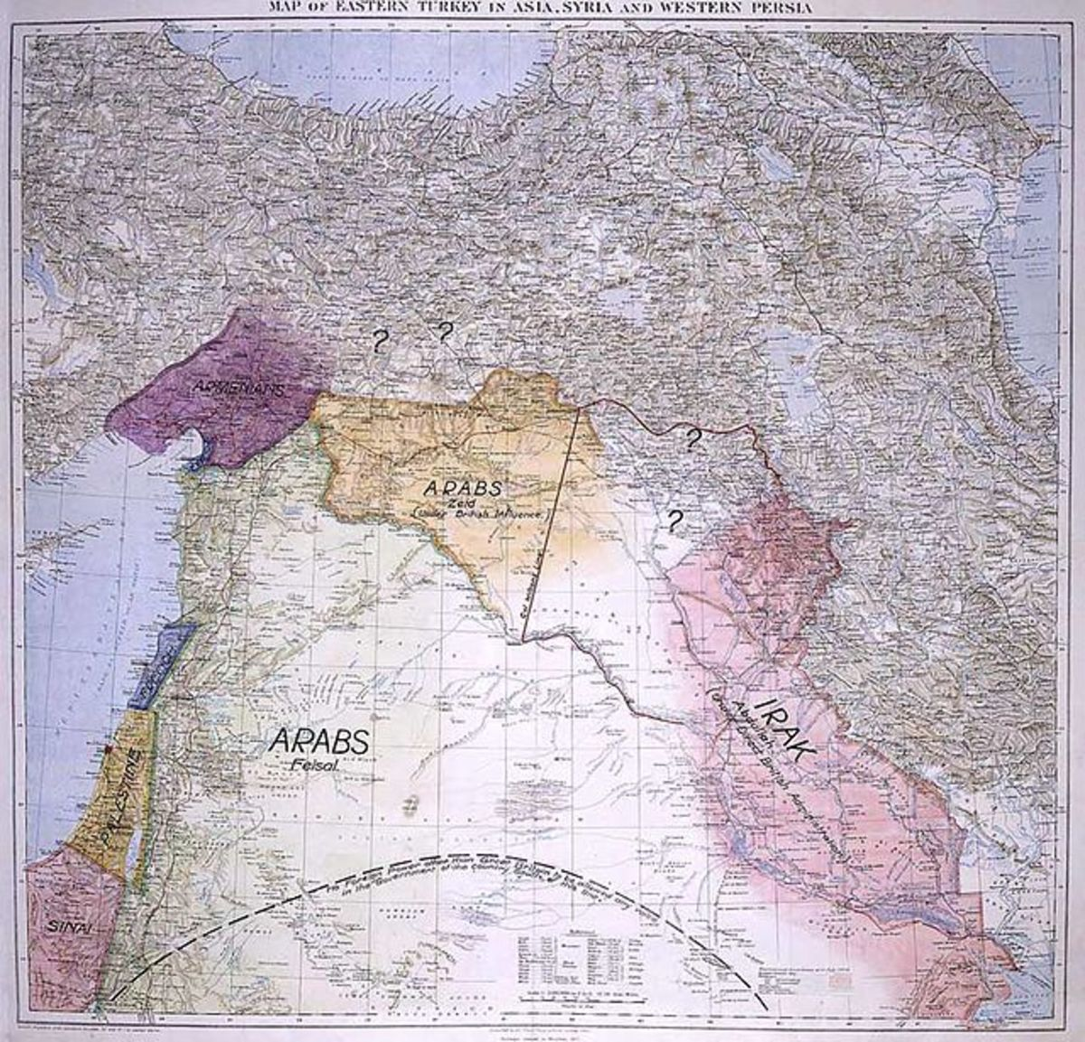 The map looks harmless enough, but the pretty colored paper can't tell the troubled history.