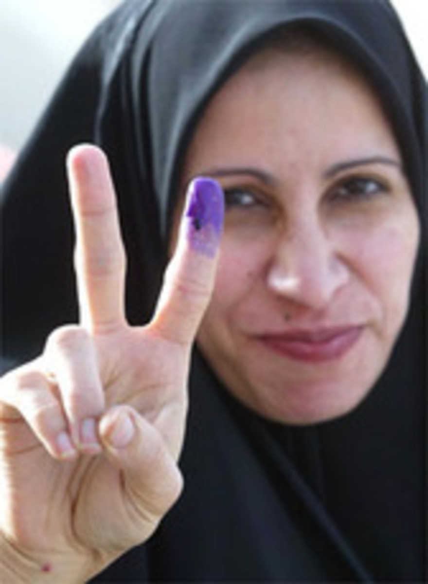 Proud purple fingers couldn't hold back the terrorists and suicide bombers that filled the void after Saddam's departure.