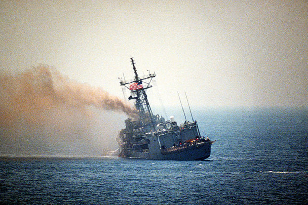 "Your humble author personally witnessed the damaged USS Stark after it was hit by two Iraqi Exocet missiles and then towed to Bahrain for repairs, at the height of Saddam's ""friendship"" with the American people."