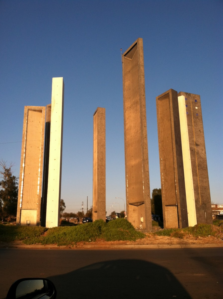Walter Sisulu Square: At one end of the building, where the V-shape meets, is the Walter Sisulu monument. Walter Sisulu was a South African anti-apartheid activitst and member of the African National Congress (ANC) along with Nelson Mandela and Olive