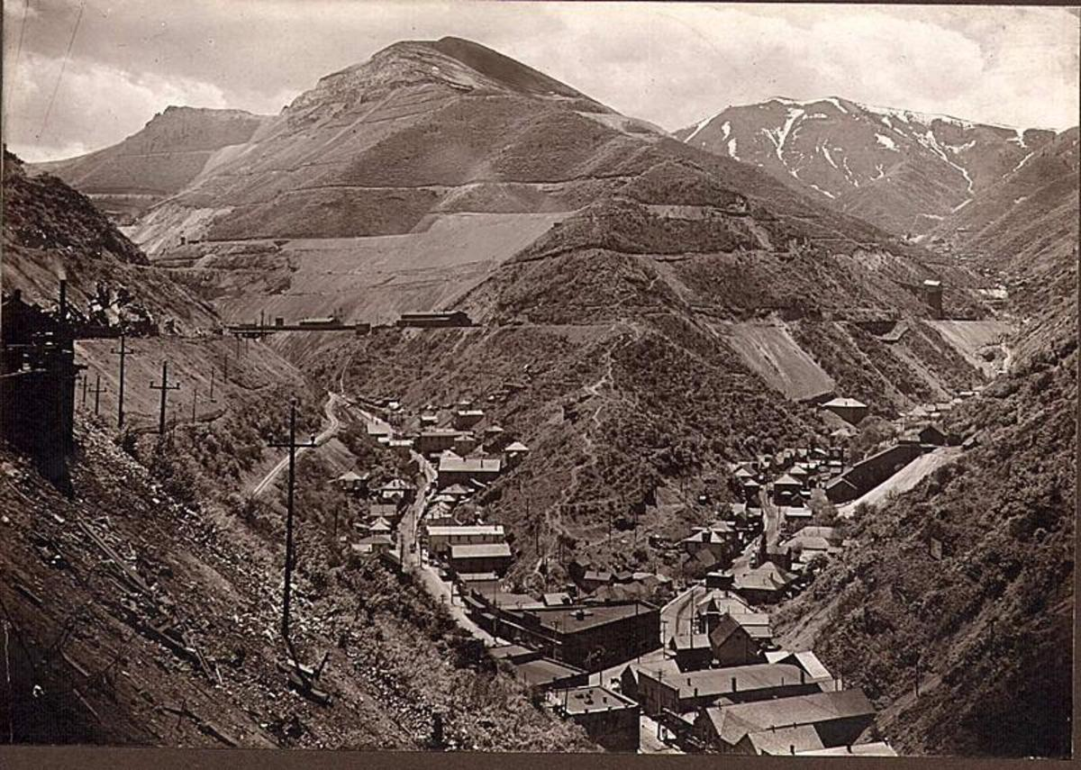 Bingham Canyon in the late 1870's.
