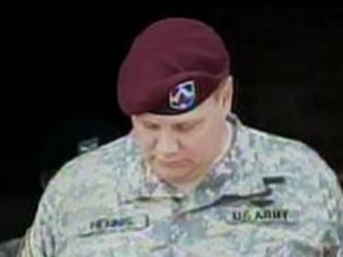 Tim Hennis during his Court Martial