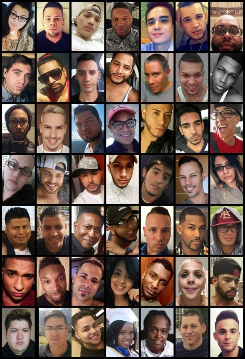 This photo combination shows all 49 victims of the shooting. Another 53 people were injured.