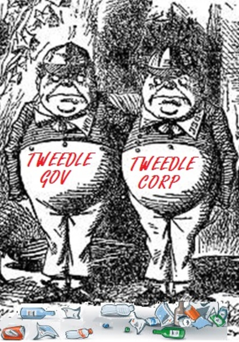 The Tweedle Twins – you don't get one without the other and you get pollution with both.