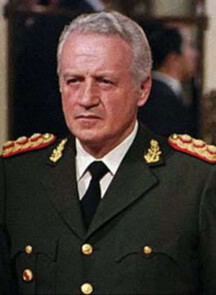 General Galtieri leader of Argentina's junta during the Falklands War with the UK at the time of Mrs Thatcher.