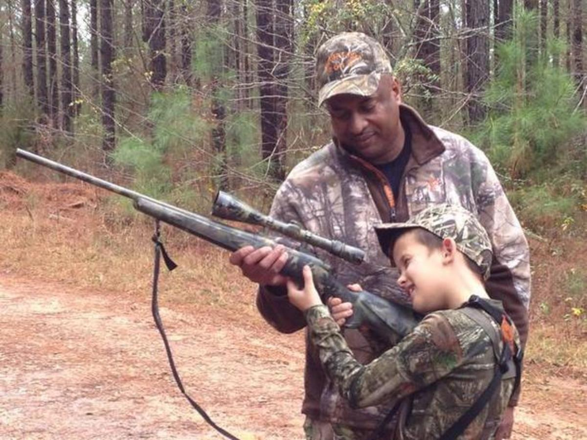 """""""LIttle A"""" and """"Big A"""" go hunting in Chester County."""