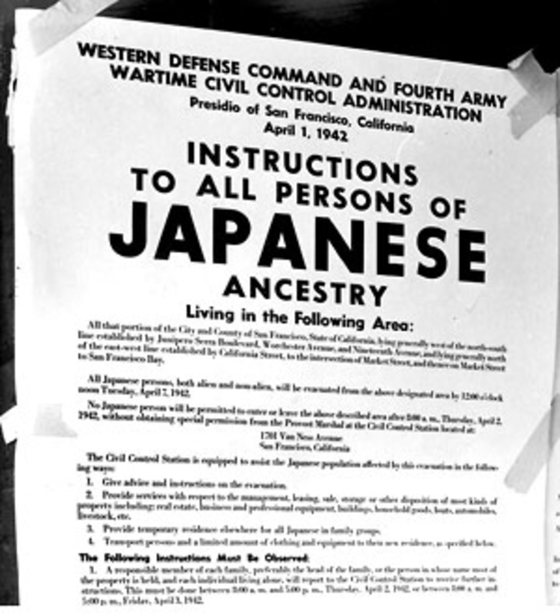 The internment of Japanese Americans was another case where wartime was used to target people wholesale as enemies of the state and justify their illegal treatment