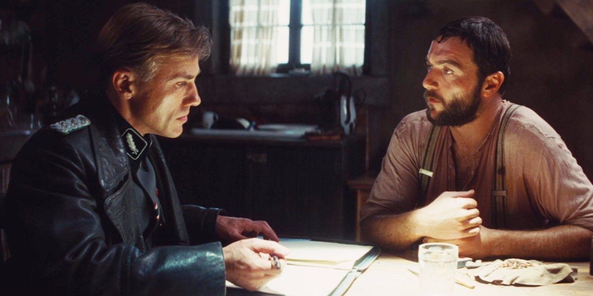 No win situation: SS officer, Hans Landu, forces a French farmer between saving his family and a Jewish family he is hiding beneath the floor, in Inglorious Bastards
