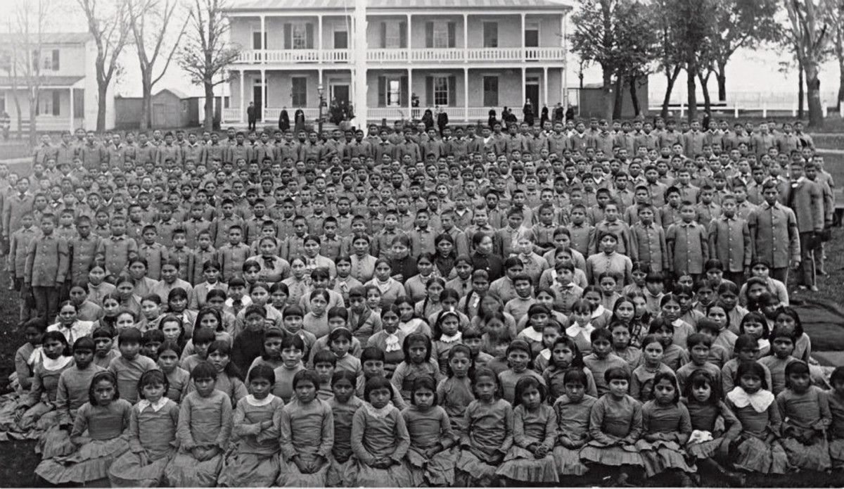 "Indian ""Boarding School"" cultural genocide."