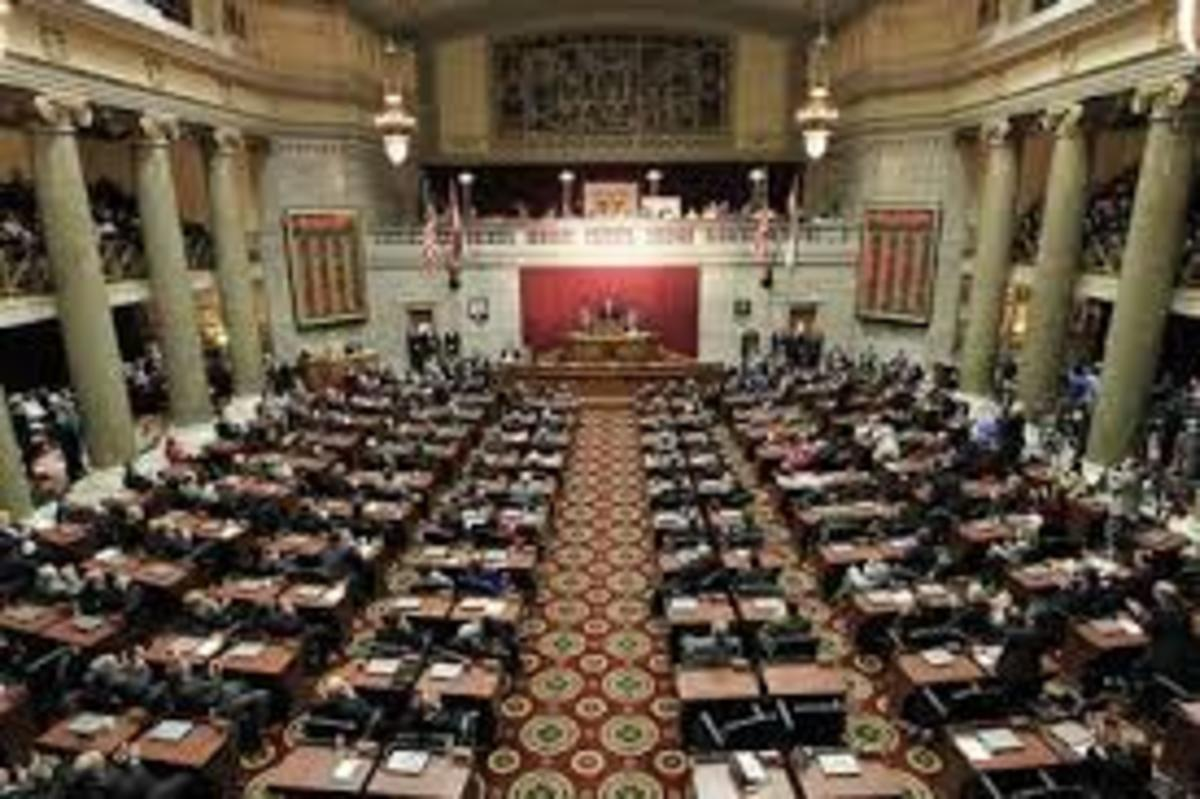 Missouri State House Floor During Session