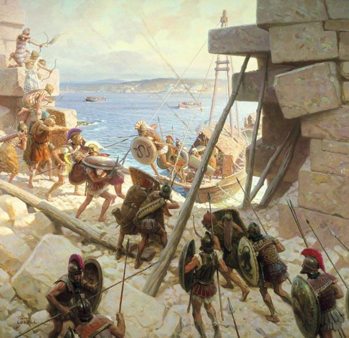 Considered illegal today, the killing of military age males and turning inhabitants into slaves was par for the course in the ancient world. And this included Alexander's sacking of Tyre.