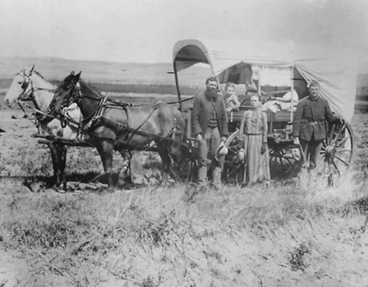 As soon they arrived on the east coast, many immigrants seeking space and opurtunity moved westward in large communities or families.  While this gave them some peace from competing migrants, it also increased wars with the Native tribes.