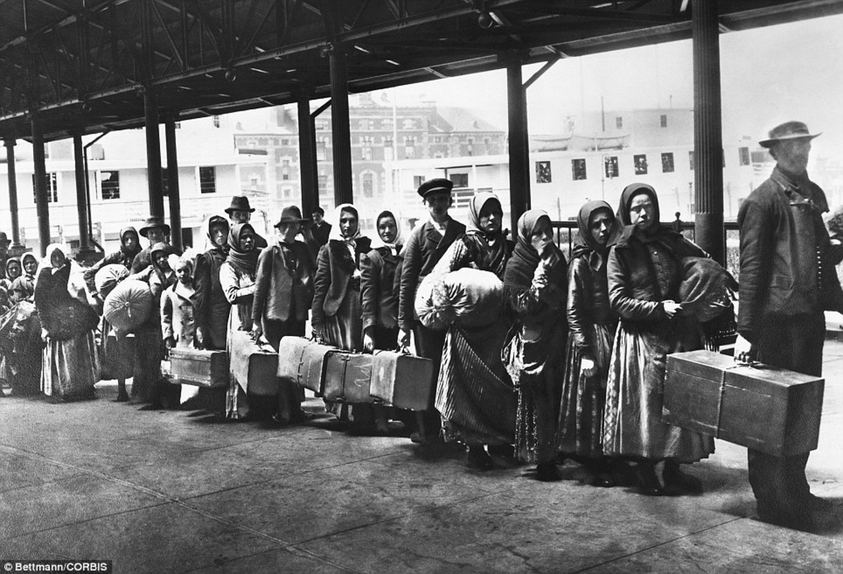 As crisis's seemed to increase in Europe, America seemed like the only escape for many trying to live their lives.  When they got here, it gave them that, but also struggle of a different sort.