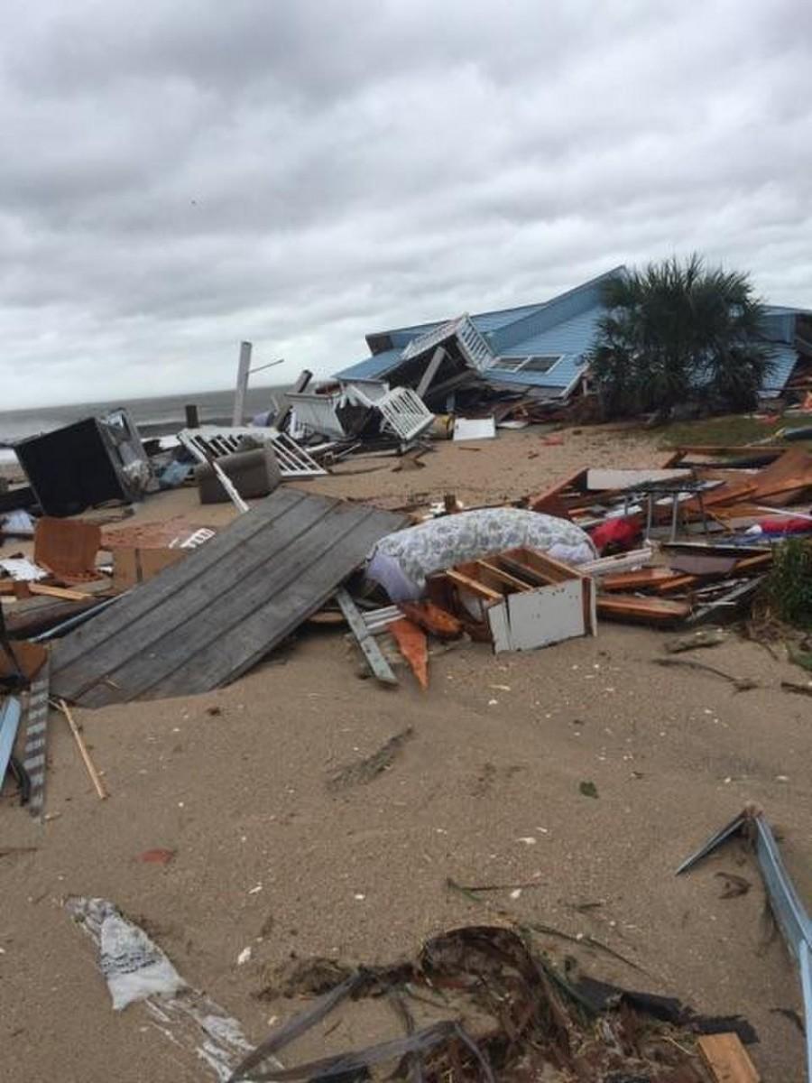 Hurricane Matthew aftermath, Edisto Beach, SC, 2016.