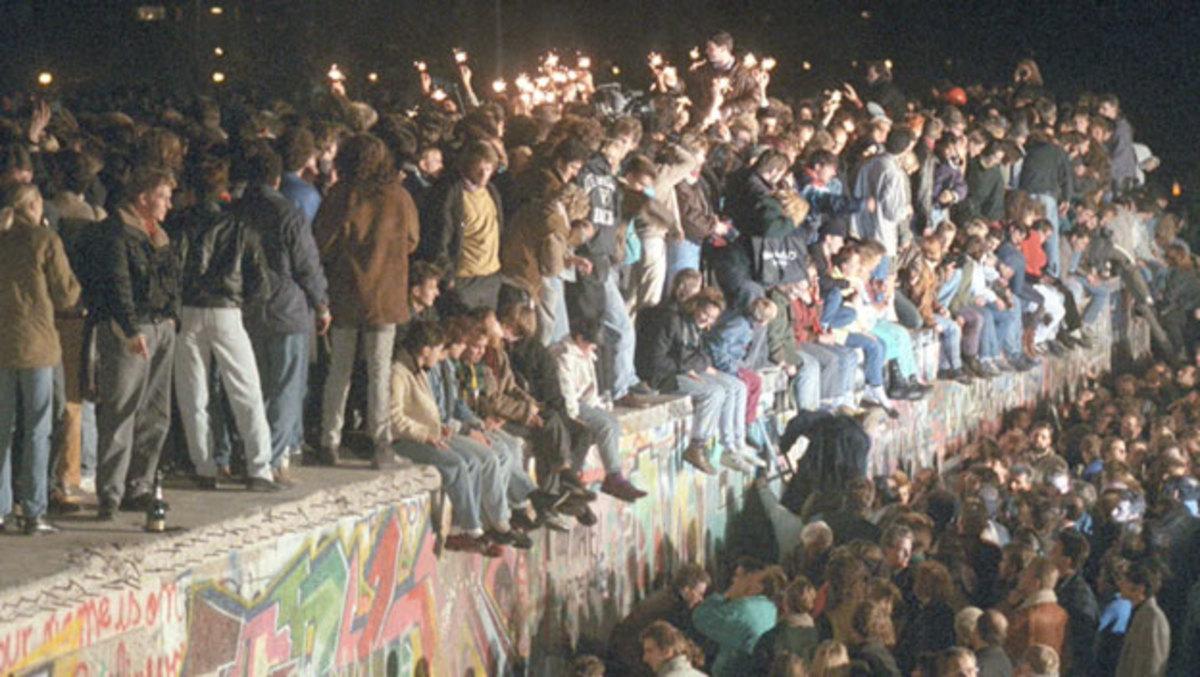 Fall of the Berlin Wall, 1989.