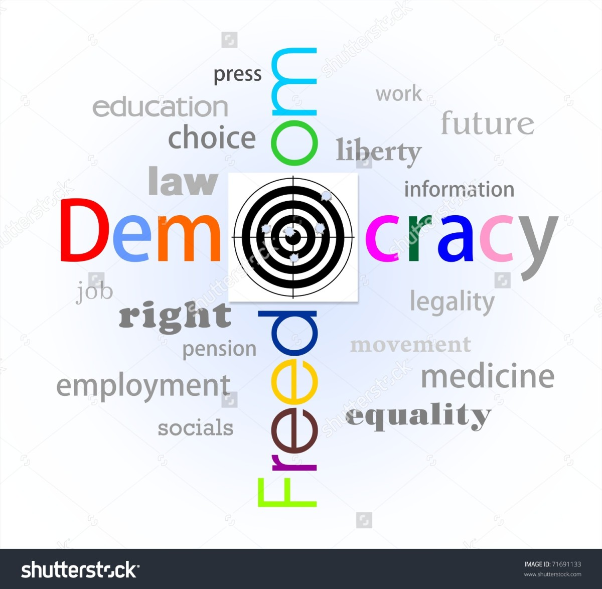 Democracy is not free by definition