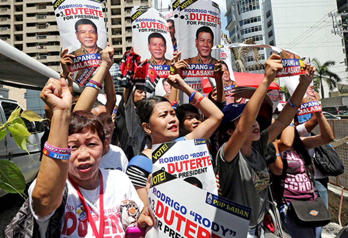 What kind of people support Rodrigo Duterte?